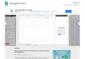 google analytics for sheets