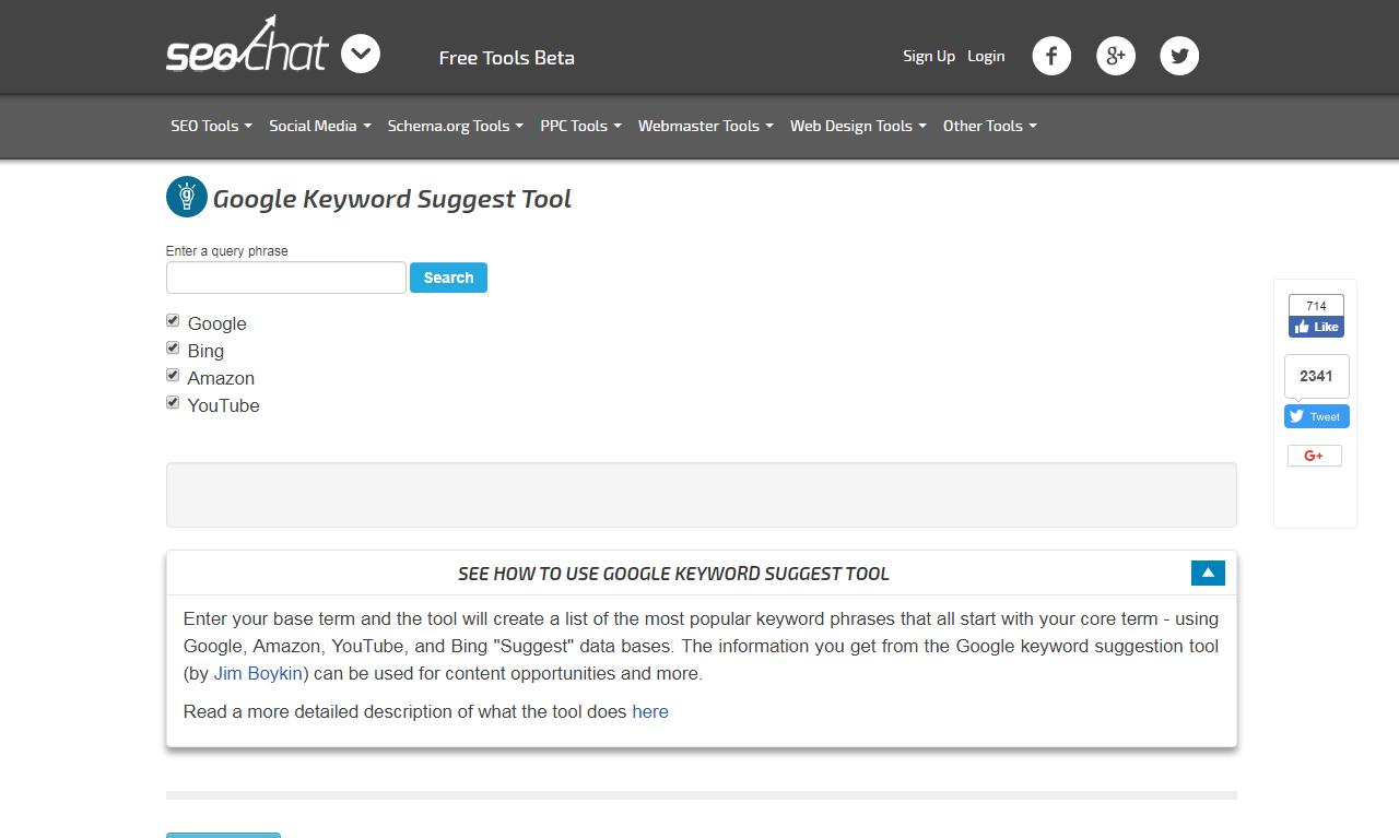seochat keyword tool