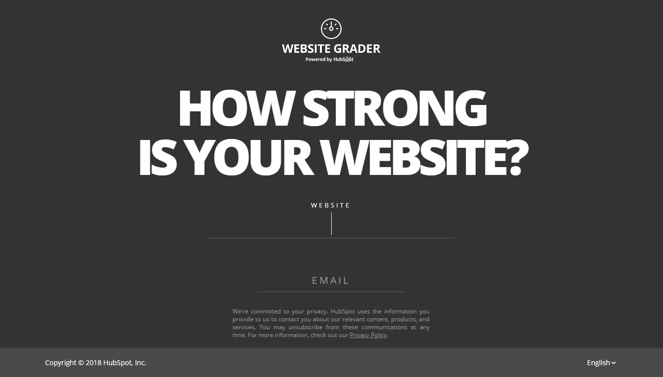website grader by hubspot