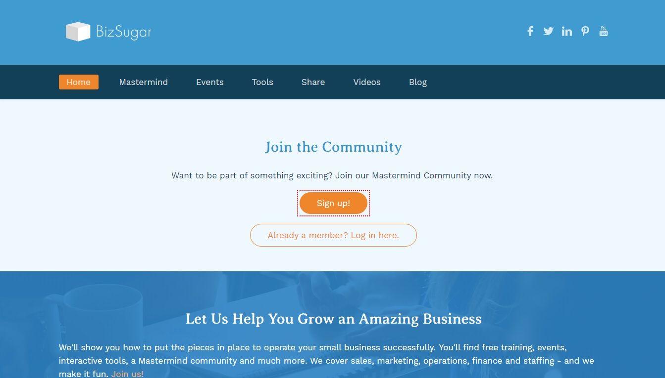bizsugar homepage