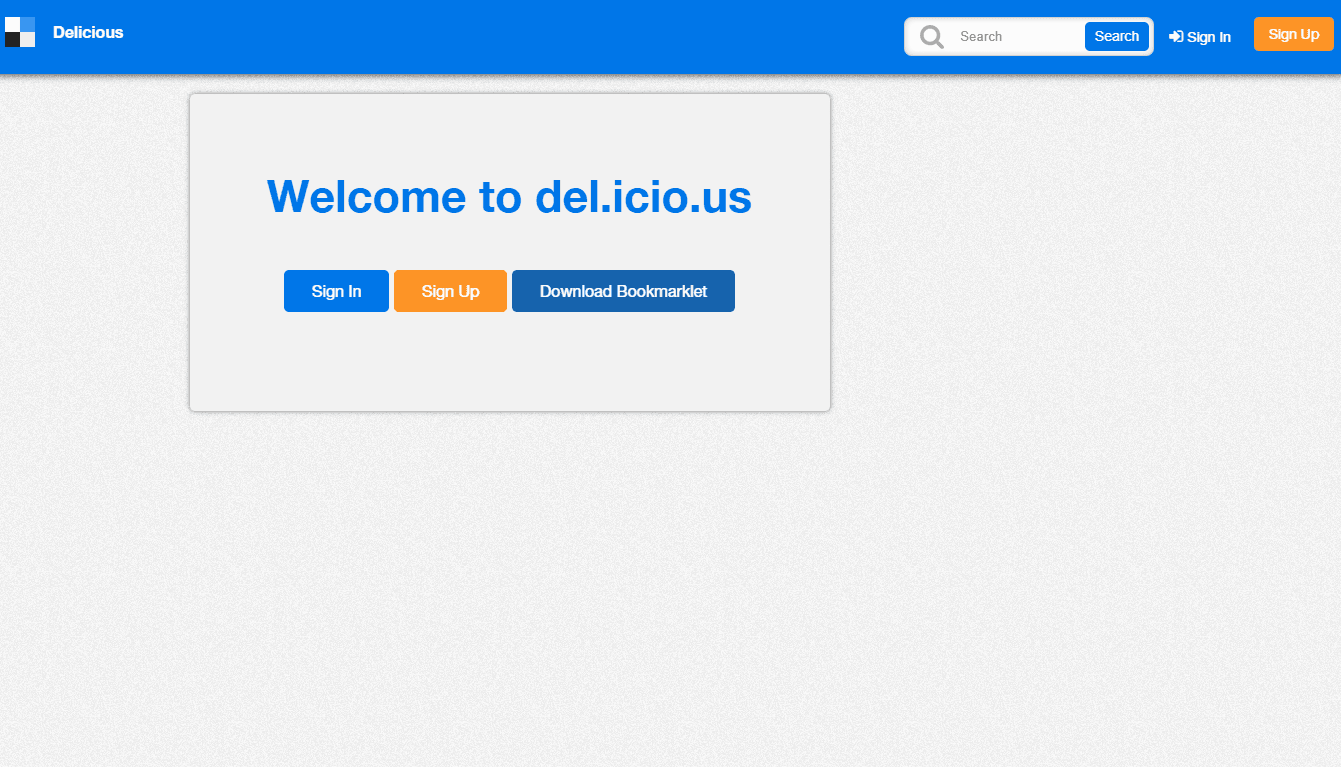 delicious homepage