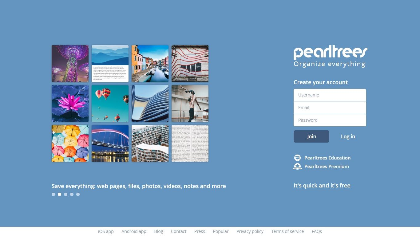 pearltrees homepage