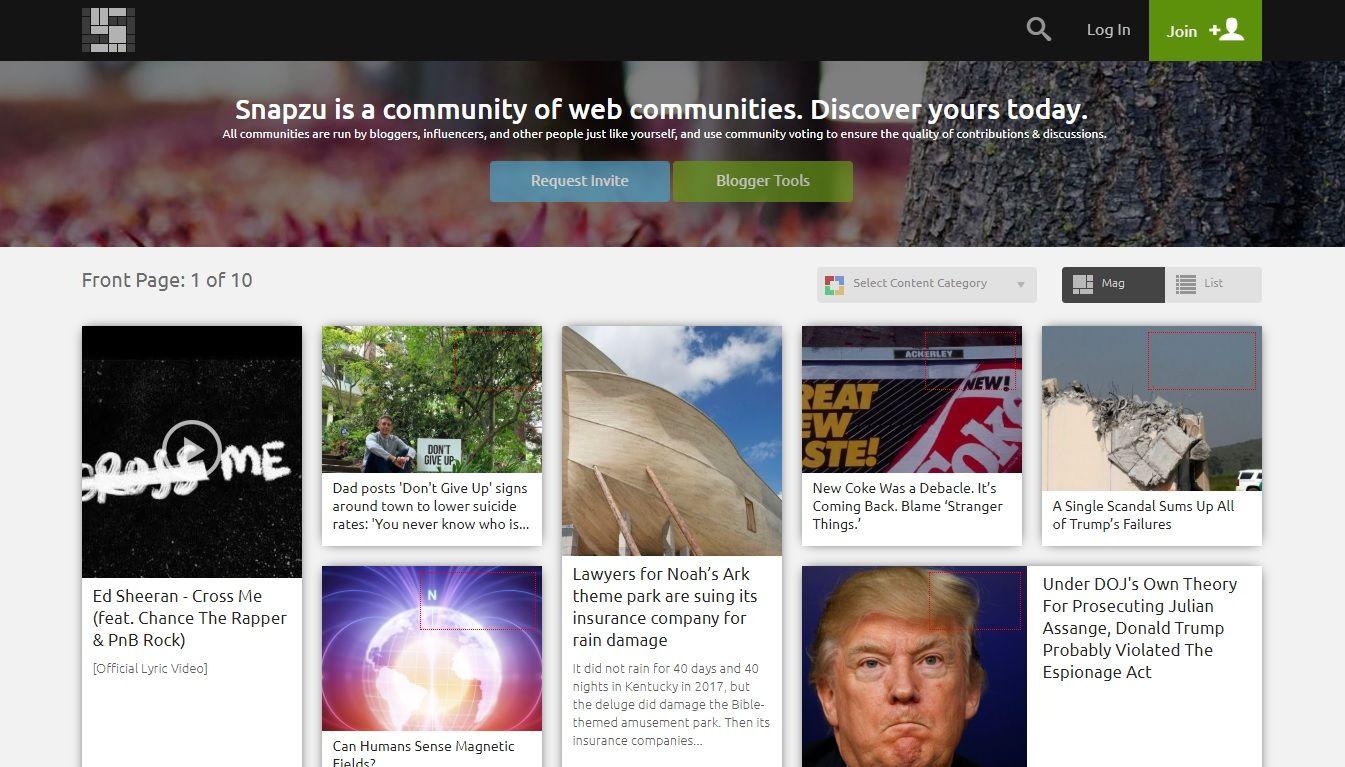 snapzu homepage