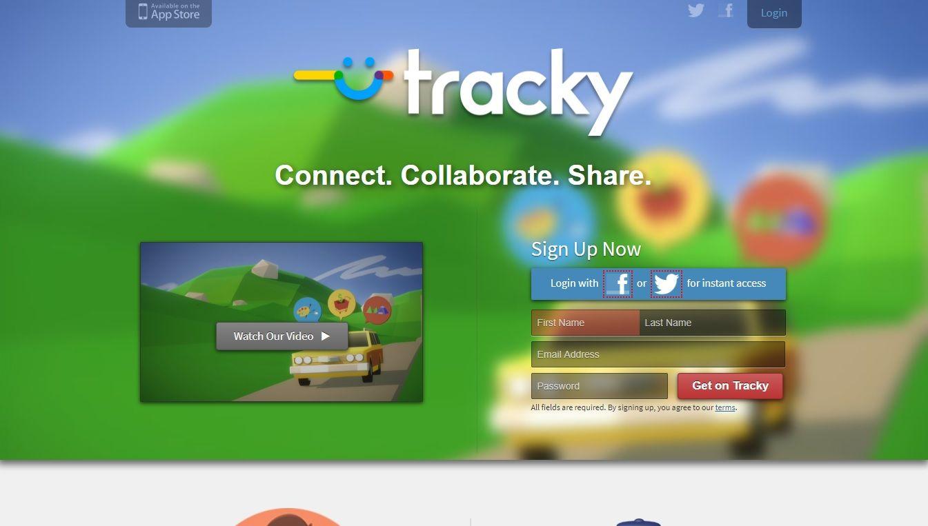 tracky homepage