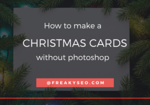 how to make a christmas cards without photoshop